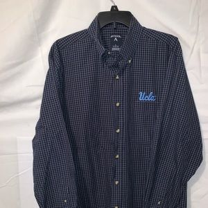 Antigua UCLA Large Button Down Long Sleeve Blue